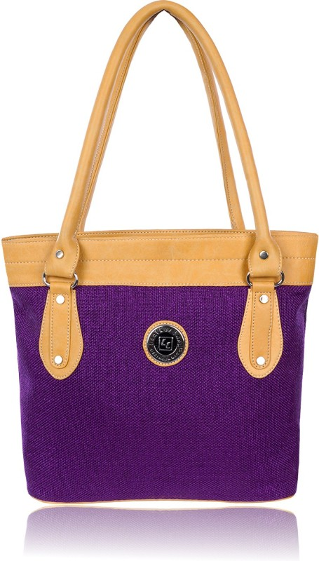 Leather Land Women Purple, Yellow Shoulder Bag