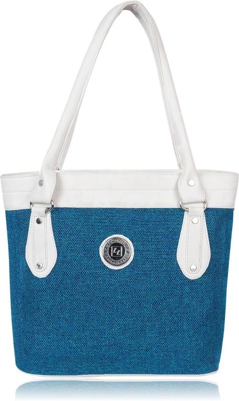 Leather Land Women White, Blue Shoulder Bag