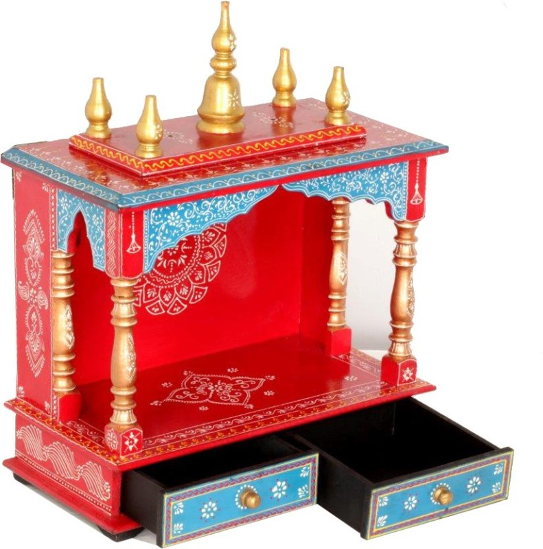 Home and Bazaar HB17KI-035 Solid Wood Home Temple(Height: 52 cm)