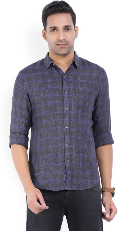 Levis Mens Checkered Casual Blue, Grey Shirt