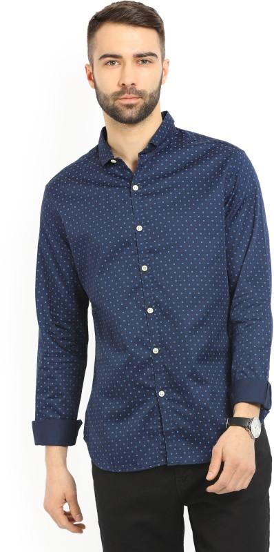 Levis Mens Printed Casual Blue Shirt