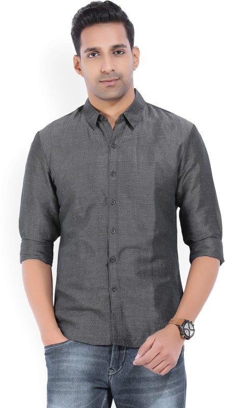 Levis Mens Striped Casual Grey Shirt