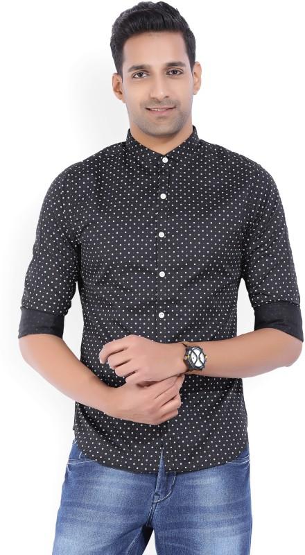 Levis Mens Printed Casual Black Shirt