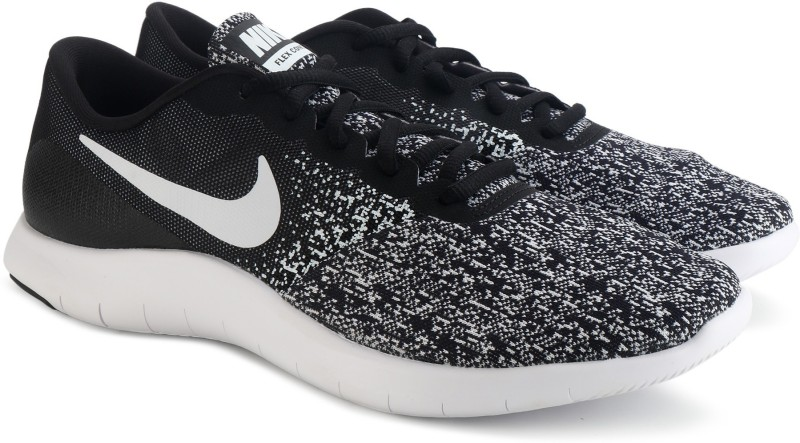 Nike WMNS NIKE FLEX CONTACT Running Shoes For Women(Black, White)
