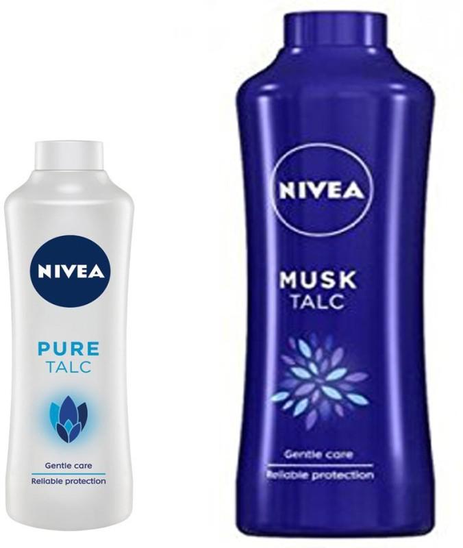 Nivea MUSK TALC+PURE TALC(500 g)