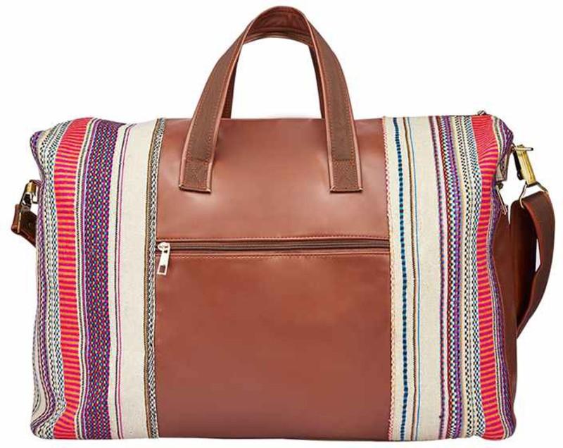 2AM Womens Leather Duffle Bag (Multicolor) Travel Duffel Bag(Multicolor)