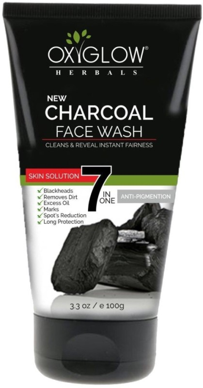 Oxyglow Charcoal Face Wash(100 ml)