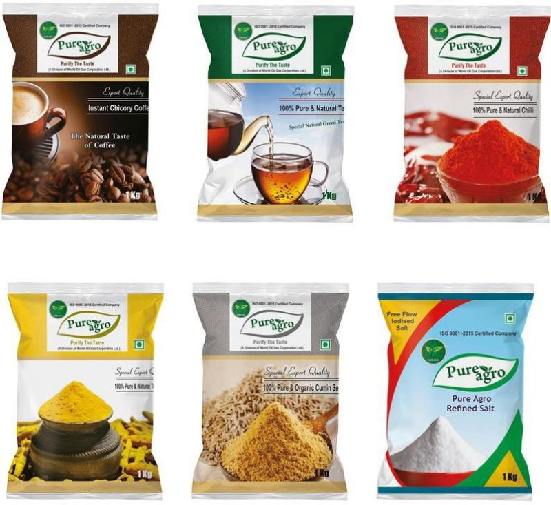 Pure Agro Spices Combo Pack of 6 Combo(6)