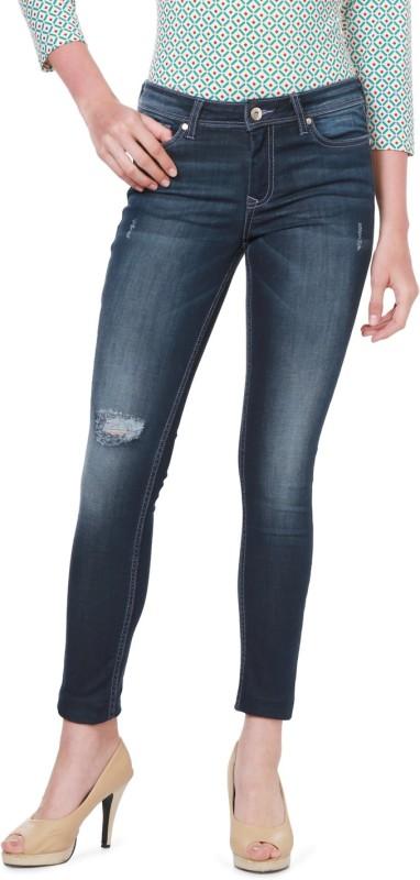 Allen Solly Slim Women Dark Blue Jeans
