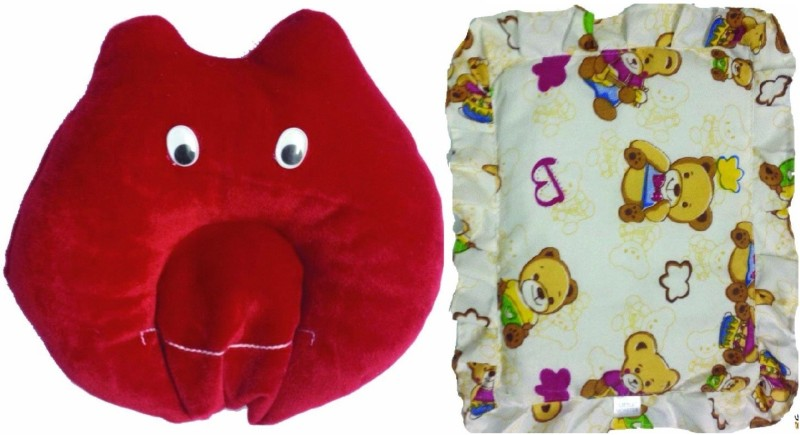 Little Monster Solid Bed/Sleeping Pillow(RED & White)