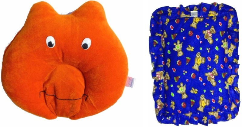 Little Monster Solid Bed/Sleeping Pillow(Multicolor)