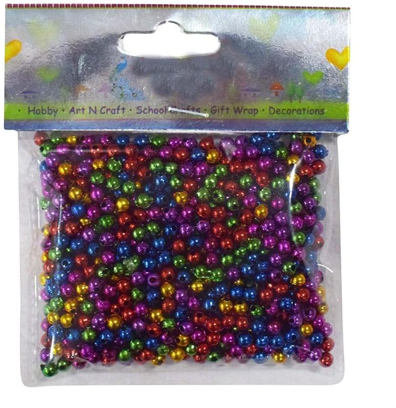 Shrih Colourful Shining Round Beads 50g Multi Beads(50 g)