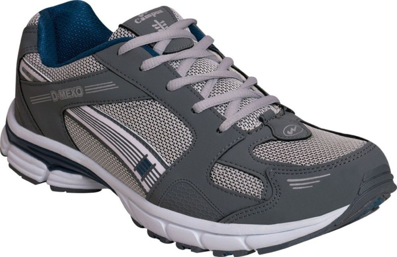 Campus Campus D-MEXo D.gry/Sil/B.Grn Men Running Shoes Running Shoes For Men(Grey, Silver, Green)