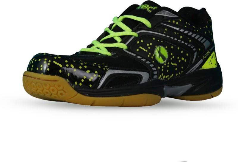 Feroc Black Marble Unisex Badminton Shoes For Men(Black)