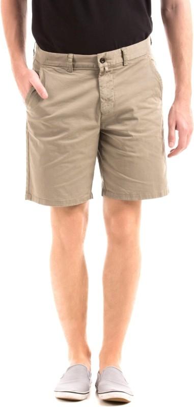 Gant Solid Men Brown Basic Shorts