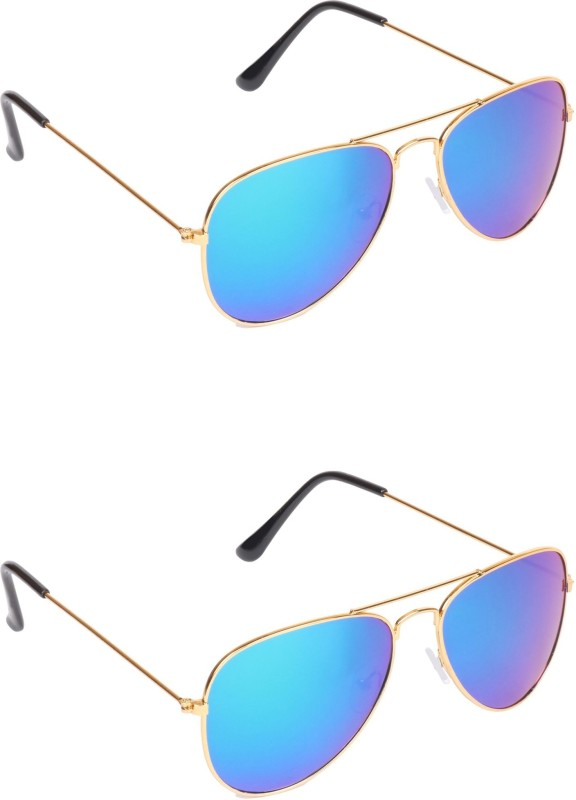 pekuniary Aviator Sunglasses(Blue) image