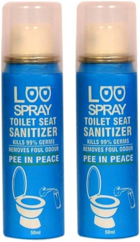 Loo Spray Toilet Seat Sanitizer Spray Can 50ml (Pack of 2) Lemon Spray Toilet Cleaner(50 ml, Pack of 2)