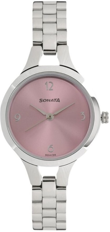 Sonata 8151SM03 Steel Daisies Analog Watch - For Women