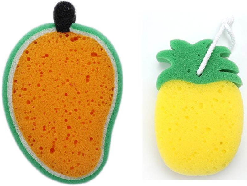 Fully Cleansing Sponge For Kids / Body Scrub Bath Sponge Set OF 2 Pcs