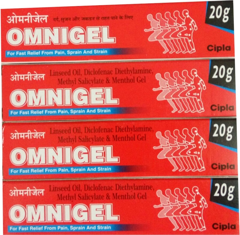Cipla OMNIGEL 20 GM (PACK OF 4) Gel(20 g)