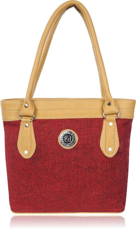 Leather Land Women Red, Beige Shoulder Bag