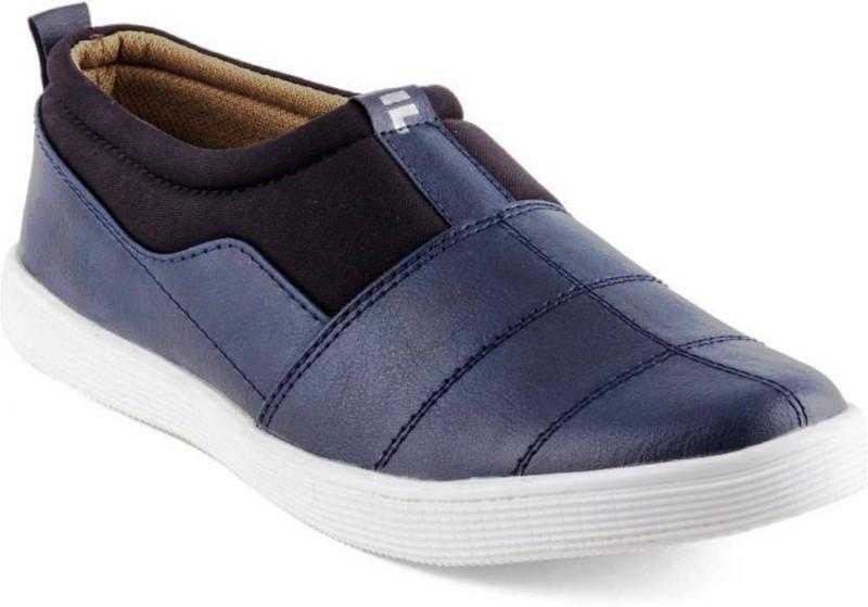 U2Shoes Boys Slip on Loafers(Blue)
