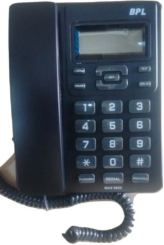 BPL BPLMax 9000 Corded Landline Phone(Black)