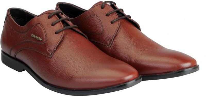 Hush Puppies Premium Leather Lace Up For Men(Tan)