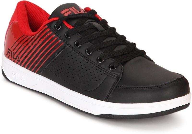 Fila Walking Shoes For Men(Black, Red)