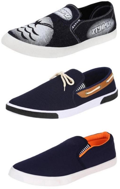 World Wear Footwear Combo-(3)-486-691-417 Loafers For Men(Multicolor)