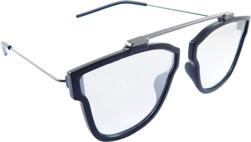 Els Retro Square Sunglasses(Clear)