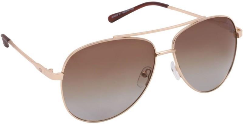 Gio Collection Aviator Sunglasses(Brown)
