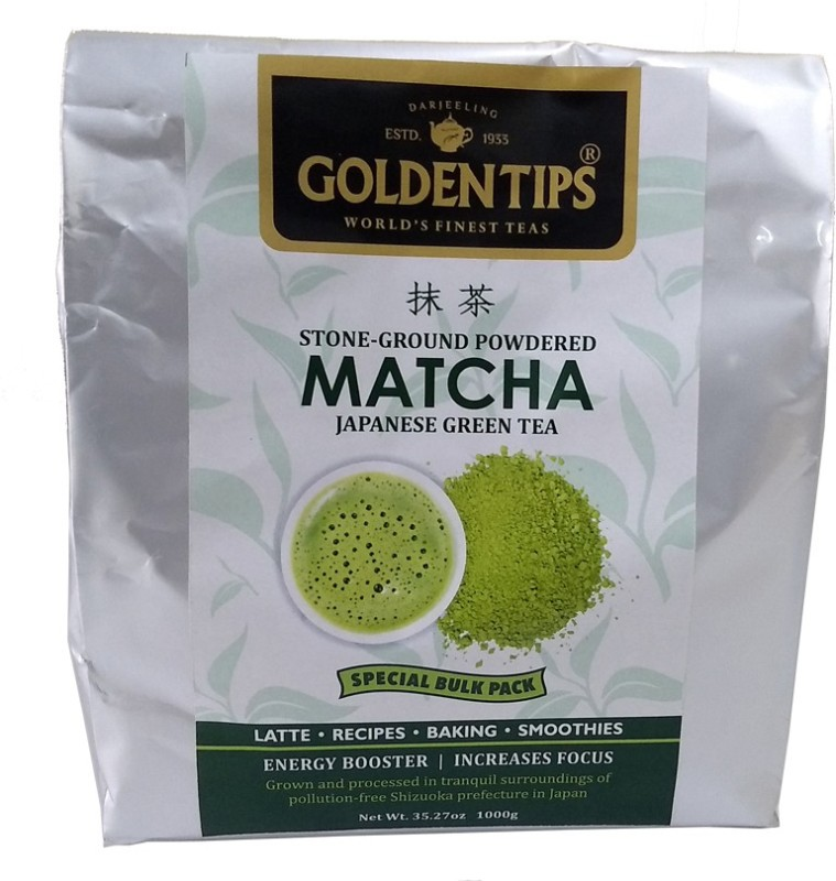 Golden Tips Golden Tips Original Japanese Matcha Green Tea Powder (1 Kg - Bulk Pack) 500 servings - All Natural, NO Added Sugar - Helps Weight Loss, Increases Focus, Boost Energy - Perfect for Latte, Recipes and Baking Matcha Tea(1000 g, Pouch)