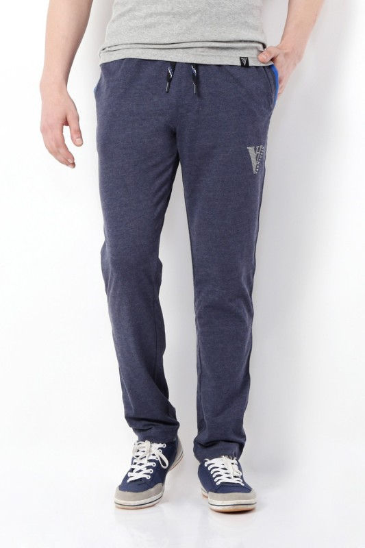Van Heusen Solid Mens Blue Track Pants
