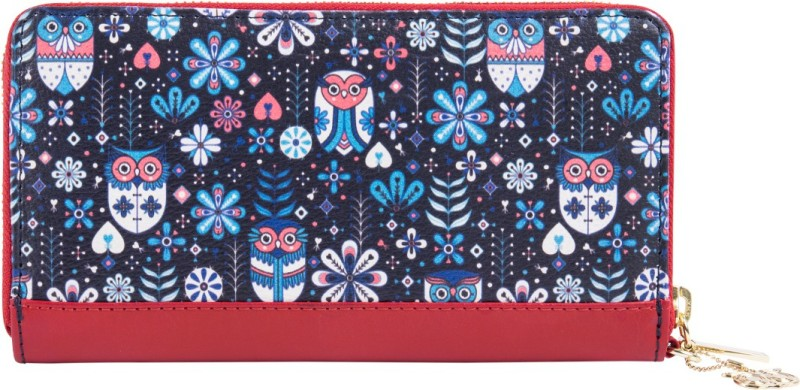Chumbak Women Blue Fabric Wallet(12 Card Slots)