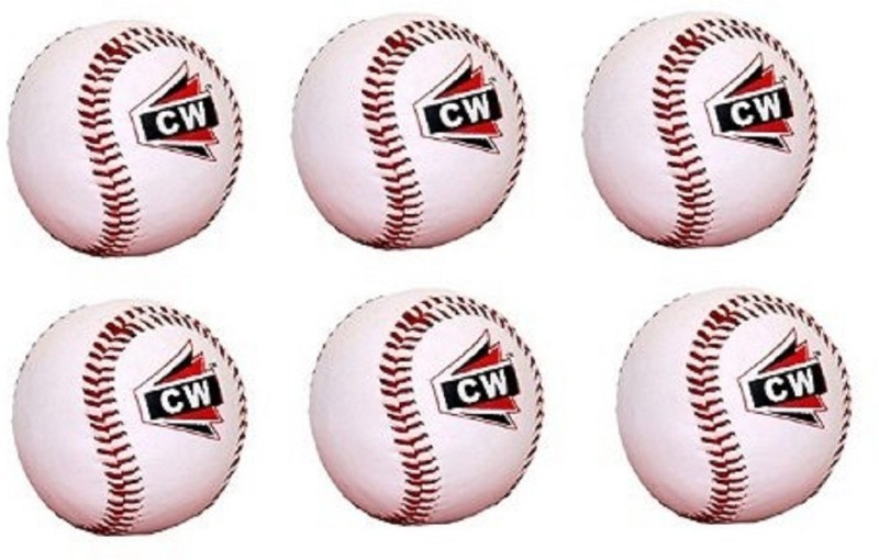 CW White Sports Advance Adult/Youth Baseball for League Play, Practice, Competitions Baseball(Pack of 6, White)