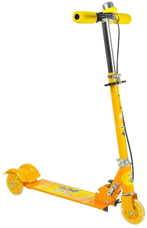 MTS Heavy Metallic 3 Wheel Height Adjustable Scooter, Yellow new Scooter(Yellow)