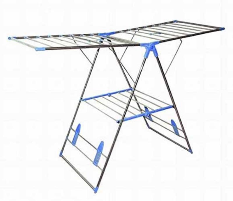 HOUZIE Stainless Steel Floor Cloth Dryer Stand(Silver)