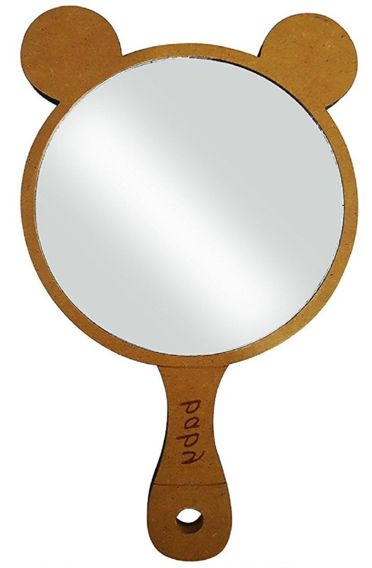 Fully Hand Mirrors for Make Up | Wooden Handle Makeup Mirrors