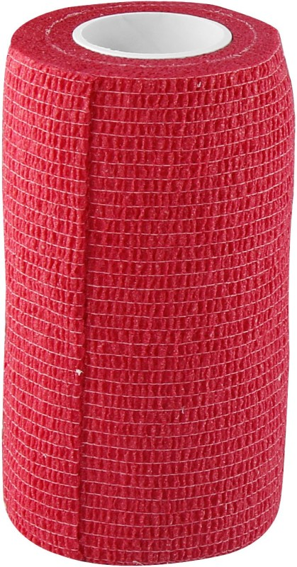 A-TAPE Cohesive Crepe Bandage Red (Reusable & Waterproof, 10 cm X 4.5 mtr) Crepe Bandage(10 cm)