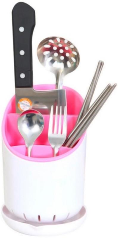 ZEVORA Home and Kitchen Dry Cutlery Holder Strainer Drainer Spoon Fork Organizer Dryer Storage Dock Disposable Plastic Cutlery Set(Pack of 1)