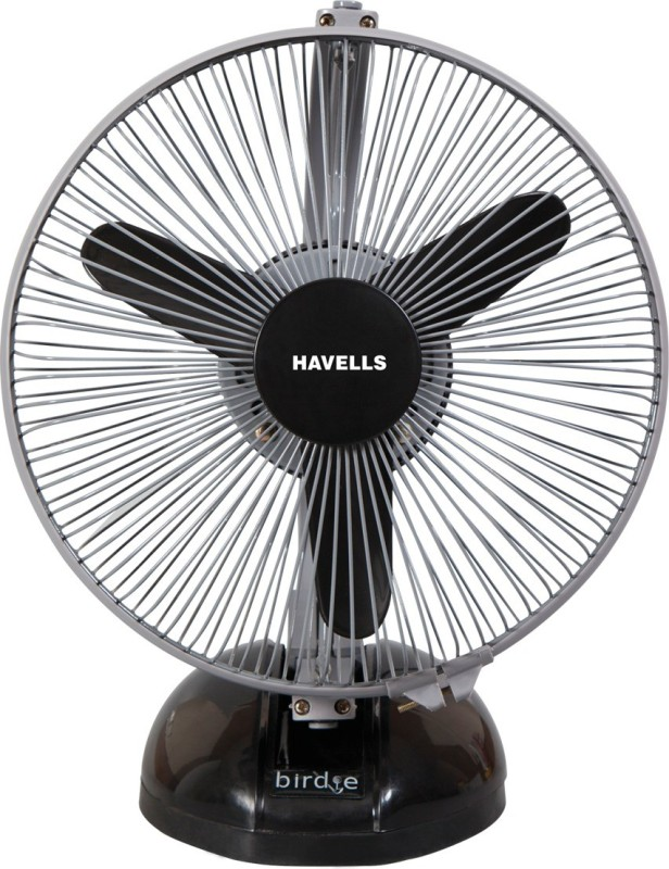 Havells 230 MM BIRDIE PERSONAL BLACK GREY FAN 3 Blade Table Fan(Black Grey)
