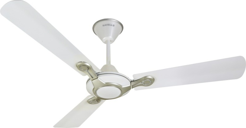Havells 1200 MM FAN LEGANZA 3B PEARL WHT.SILVER 1200 mm 3 Blade Ceiling Fan(Pearl White-Silver, Pack of 1)