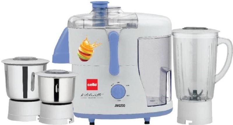 Cello JMG 200 500 W Juicer Mixer Grinder 500 Juicer Mixer Grinder(White, 3 Jars)