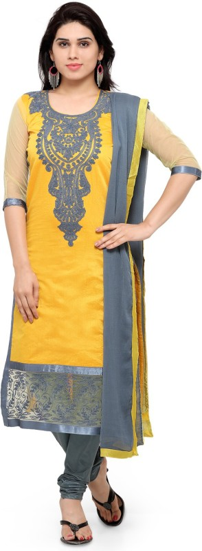 ARSHIMPEX Embroidered Kurti & Salwar(Stitched)