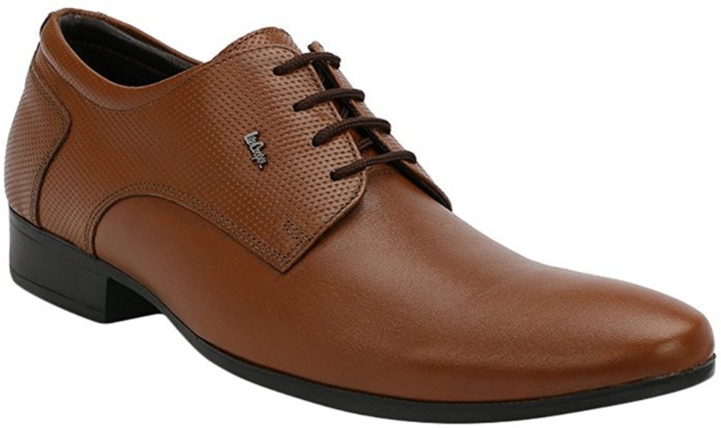 Lee Cooper Mens Formal Lace Up For Men(Tan)