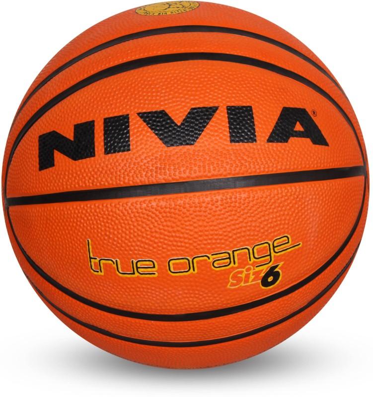 Nivia True Orange Basketball - Size: 6(Pack of 1, Orange)