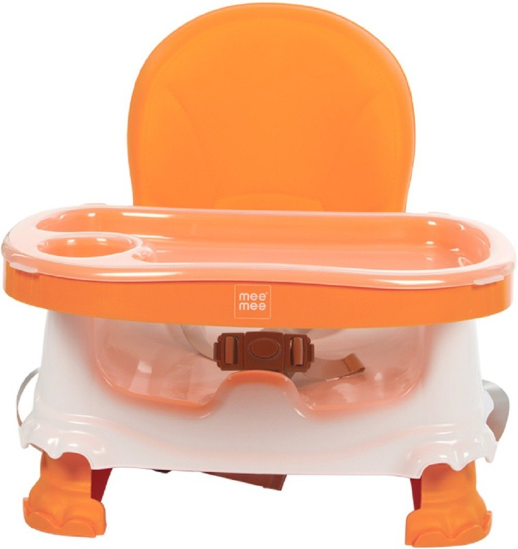 MeeMee Foldable Booster Seat with Feeding Tray (Orange)(Orange)
