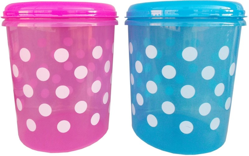 kotak sales Kotak Sales Multipurpose Floral Design Airtight Fresh 3 Pieces Kitchen Storage Hard Plastic Container Food Organizer Spices, Biscuits, Dry fruits etc. Jar Food Grade Material Freezer Dishwasher Microwave Safe 3Pcs set Big D2(Any One Color) - 100 Plastic Grocery Container(Pack of 3, Pink