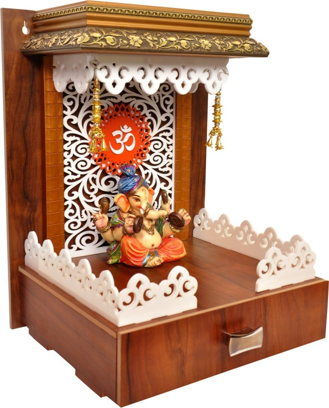 7CR 7CR Dynamic Temple Solid Wood Home Temple(Height: 42 cm)